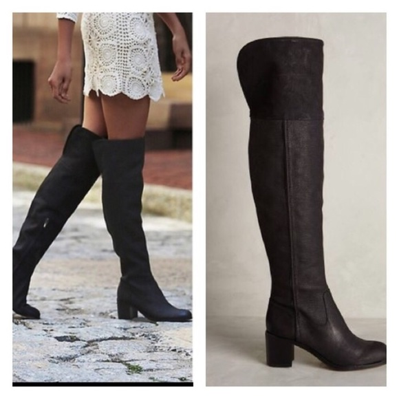 7a6f5e36f Sam Edelman Over the Knee Leather Boots. M 5bc50fbf534ef9db1efac241